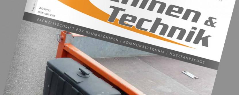 Presseartikel der Zeitschrift Maschinen und Technik