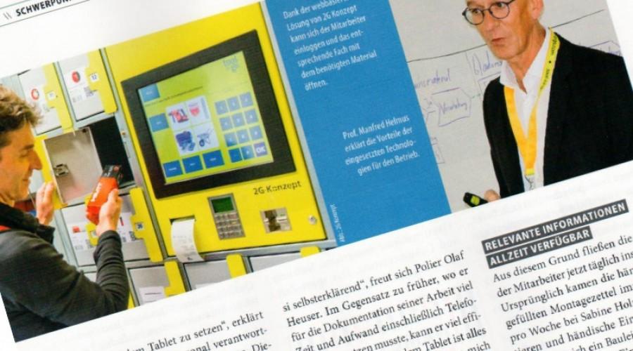 Fachmagazin Baugewerbe berichtet über 2G-Konzept